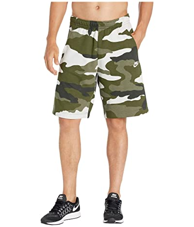 Nike NSW Club Shorts Camouflage (Medium Olive/Medium Olive/Summit White) Men