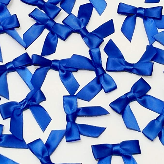 Blue hair bow. 3 twisted ribbons Ant  blue organza and satin hair bow 4.5 Ant blue hair bow
