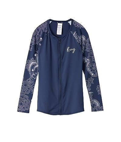 Roxy Fashion Zip Lycra Long Sleeve Rashguard (Mood Indigo Light Fairy) Women