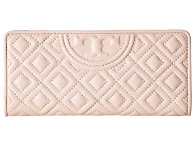 Tory Burch Fleming Slim Wallet (Shell Pink) Wallet