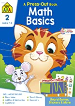 School Zone - Math Basics Press-Out Workbook - Ages 7 to 8, 2nd Grade, Board Games, Manipulatives, Place Value, Addition a...