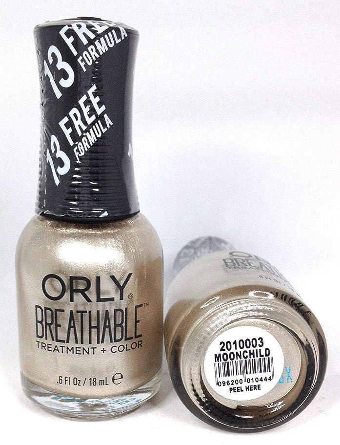 規制する浸す動詞ORLY Breathable Lacquer - Treatment+Color - Moonchild - 18 mL / 0.6 oz