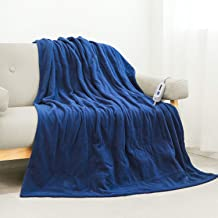 """Electric Blanket Heated Throw 50"""" x 60"""" Lightweight Cozy Soft Fleece, 4 Temperature Settings Fast-Heating with 3 Hours Aut..."""