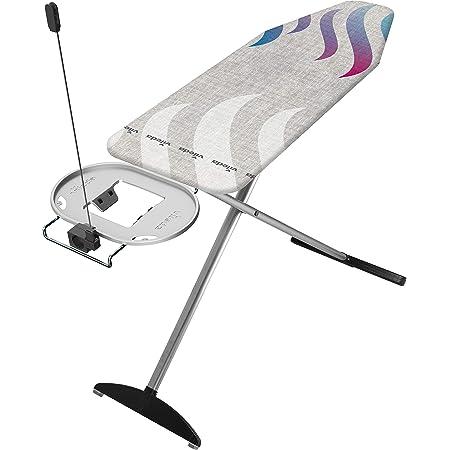 Vileda – Planche à repasser Total Reflect Plus –Table à repasser avec technologie de réflexion de la chaleur et de la vapeur, prise de courant inclus – Hauteur réglable