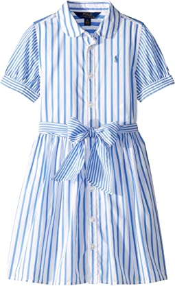 Striped Cotton Shirtdress (Little Kids)