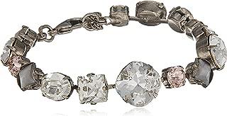 Sorrelli Womens Snow Bunny Bold Multi Shaped Crystal Bracelet, Clear/Pink, 7