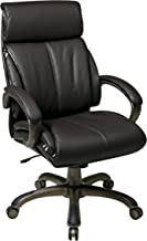 Office Star Executive Eco Leather Chair with Locking Tilt Control and Coated Base, Espresso