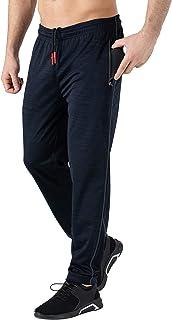 YSENTO Men Jogger Pants Stretch Gym Workout Training Sweatpants Zipper Pockets