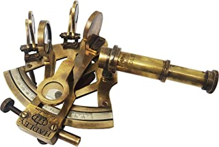 Brass Nautical - Sextant Brass Navigation Instrument Sextante Navegacion Marine Sextant (4 inches, Antique Patina)