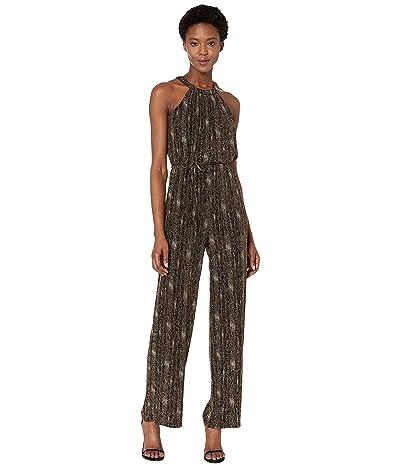 Calvin Klein Glitter Knit Jumpsuit (Black/Gold) Women