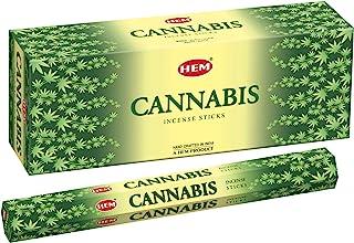Cannabis – Box of Six 20 Gram Tubes – HEM Incense