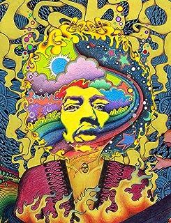 奇抜なサイケデリックアート Psychedelic Trippy Art Painting silk fabric poster シルクファブリックポスター 44cm x 33cm