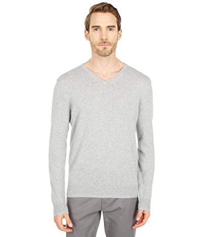 J.Crew Everyday Cashmere V-Neck Sweater (Heather Grey) Men