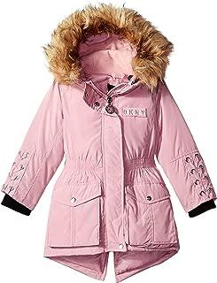 DKNY Girls' Nylon Anorak Jacket with Lacing Detail