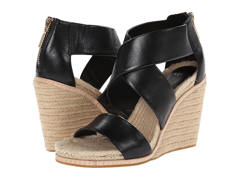 Image of Aerin Jayden (Black Matte Nappa) Women's Wedge Shoes