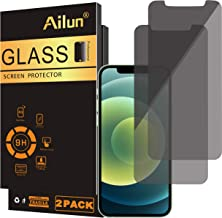 Ailun Privacy Screen Protector Compatible for iPhone 12/iPhone 12 pro 2020 6.1 Inch 2 Pack Anti Spy Case Friendly Tempered Glass [black]