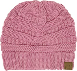 C.C CC Classic Winter Fall Trendy Chunky Stretchy Cable Knit Beanie Hat