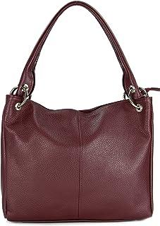 Belli ital. Leder Schultertasche Damentasche Handtasche Shopper Lilly in vielen Farben - 33x28x14 cm B x H x T