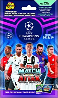Topps India UEFA Champions League TCG Collection Multipack 2018/19, Includes Total 25 Cards (18 Regular Cards, 3 Silver Ca...