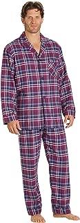 Sleepwear Mens Flannel Pajamas, Long 100% Cotton Pj Set