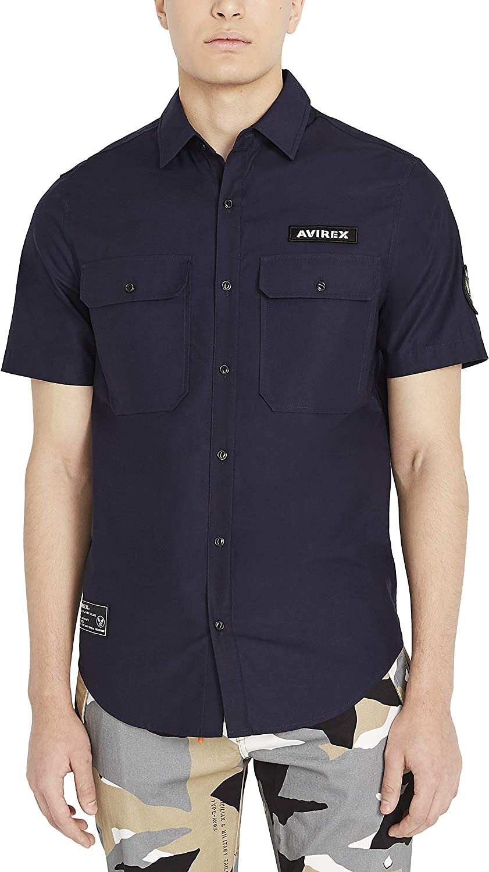 Avirex Men's Core Short Sleeve Officer Shirt