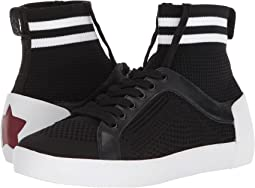 Black/White Knit/Nappa Calf