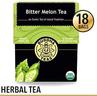 Organic Bitter Melon Tea, 18 Bleach-Free Tea Bags – Organic, Anti-Parasitic Tea Assists with Digestive Issues and Can Help Regulate Blood Sugar, No GMOs