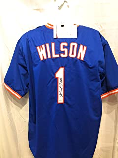 Mookie Wilson New York Mets Signed Autograph Custom Jersey JSA Witnessed Certified