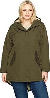Champion Womens CH3008RSB Plus Size Sherpa Lined Hooded Parka Anorak