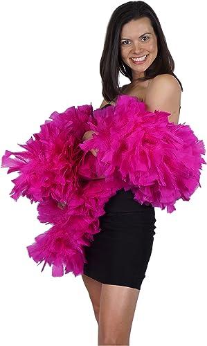 Zucker Feather (TM) Truthahn-Boas, einfarbig, Shocking Rosa
