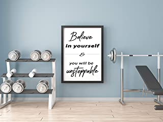 Wall decor for gym | Fitness motivational decor | Gym design | Gym ideas | Quote wall decal | Work out room decor | 8x10 Unframed | Great Gift for Gym Decor