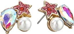 Star & Pearl Cluster Stud Earrings