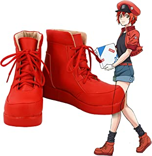Cells at Work! Anime Red Blood Cell Cosplay Shoes Boots Custom Made
