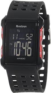 ساعة رياضية للرجال من ارمترون بسوار من البلاستيك المطاطي المثقوب 40/8177