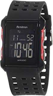 Armitron Sport Men's 40/8177 Digital Chronograph Perforated Resin Strap Watch
