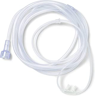 Medline Soft-Touch Nasal Oxygen Cannula, Universal Connector, 7-ft. Tubing Length, Adult Size, Pack of 50