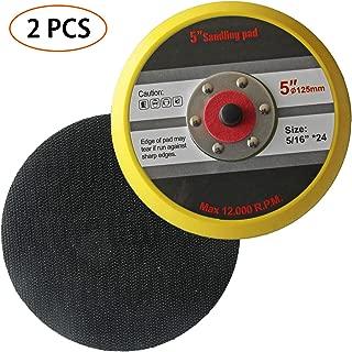 2PCS Backing Pad Polisher Sander Pad Dual Action Polisher Plate 5 Inch Flexible Edge Hook and Loop PU Sander Polisher Buffer Pads