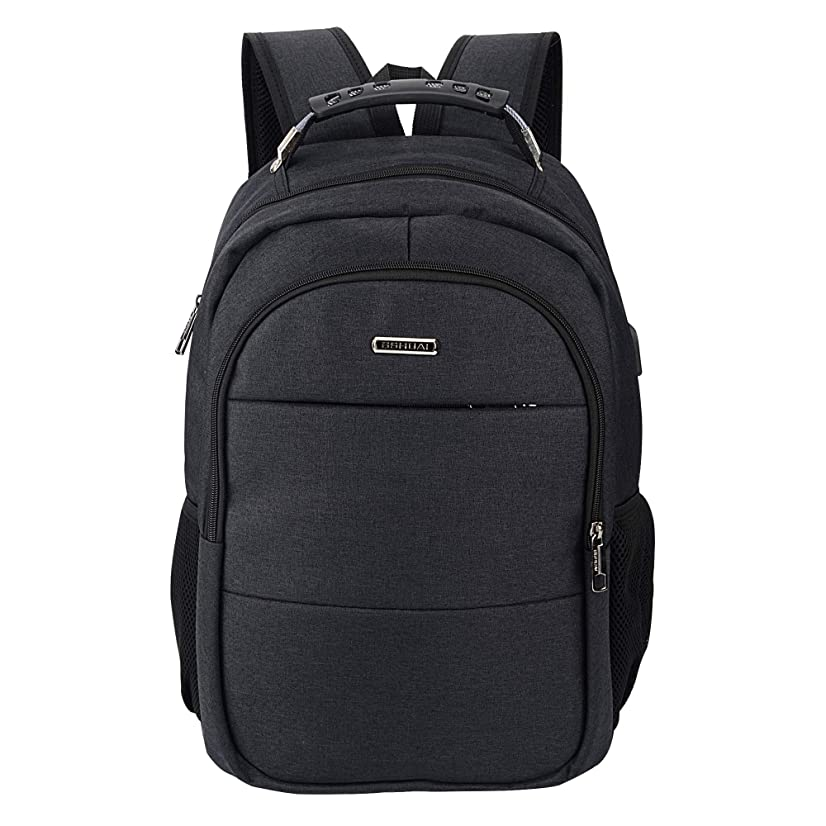 Laptop Backpack, Business Laptop Backpack with USB Charging Port (BLACK1)
