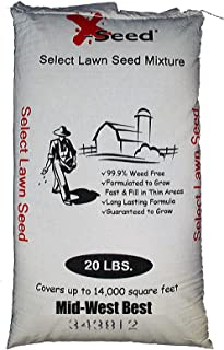 X-Seed Midwest Best Lawn Seed Mix, 20-Pound, packaging may vary