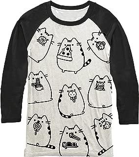 Pusheen The Cat Eating Food Raglan T-Shirt