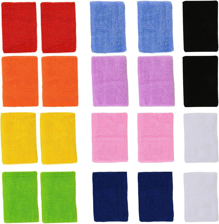 Farbe Your Life Sport-Armbnder Schweibnder für Handgelenke Handgelenke, bunt, 10 Paar