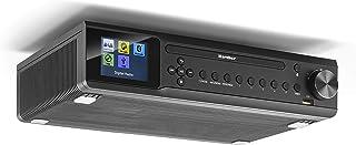 Karcher RA 2060D B Unterbauradio mit CD Player, DAB+ / UKW Radio (je 30 Senderspeicher), USB zur MP3 Wiedergaber & Bluetooth   Wecker (Dual Alarm) / Countdown Timer   Fernbedienung