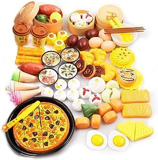 oADANNUo 88 Piece Toy Set Luxury Kitchen Dim Sum Mould 3...