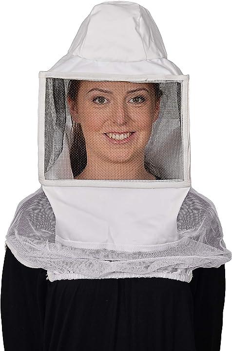Cappello per apicoltura humble bee 212 in polycotone quadrato con velo di protezione lino st B00P44TC7O