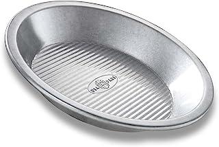USA PAN 1100PE Bakeware Aluminized Steel Pie Pan, 9-Inch Silver