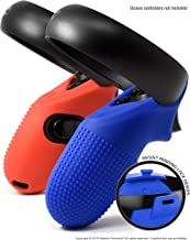 Evolution Controller Skins for Oculus Quest/Rift-S by Asterion - Premium Gel Shell Silicone Grip Protection Covers with Ultra Secure Lock for Touch v2 (Set of 2) (Rhythm Mix, 1 Blue + 1 Red)