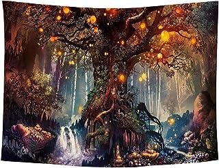 タペストリー 森 木 ツリー 癒し 幻想 風景 大判 大きい 景色 背景布 バックスクリーン 自然 (デザイン2)