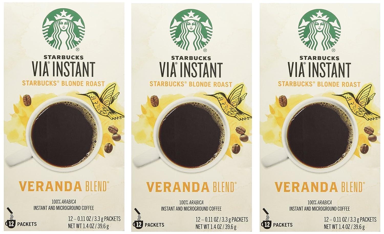 Starbucks Via Ready Brew Coffee Veranda Max 66% OFF 3 Max 60% OFF Blonde Pa Blend Roast