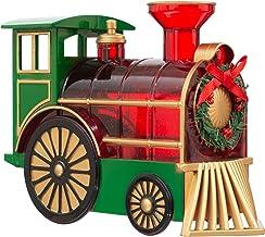 Roman 8.5-Inch LED Swirl Train Engine with Wreath