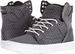 Dark Grey Polka Dot/White